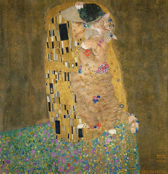 Gustav Klimt, Do Cats Like Human Kisses?