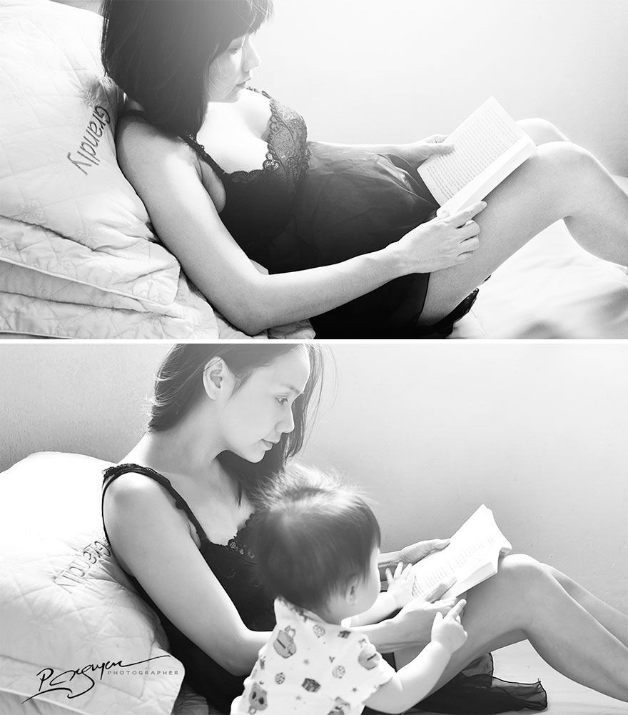 Mothers Often Read Books And Listen To Music To Unborn Babies