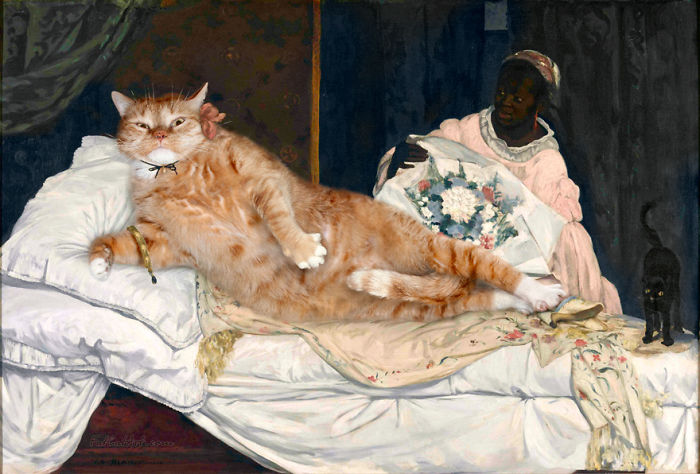 Edouard Manet, Olympia The Cat