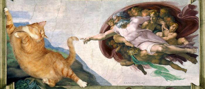 Michelangelo, Creation Of Cat-dam