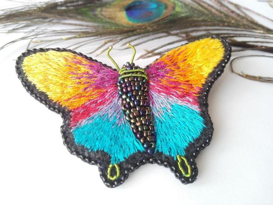 Rainbow Butterfly Brooch/pendant