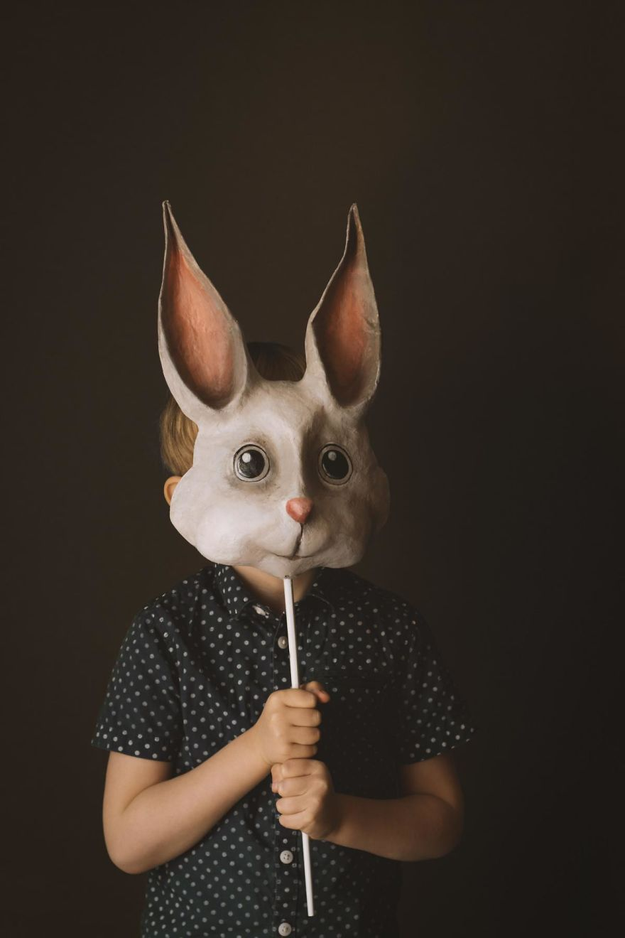 I Made A Simple Bunny Mask Out Of Paper Mâché   Bored Panda
