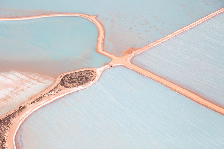 I Nearly Vomited Taking These Aerial Photos Of Salt Ponds