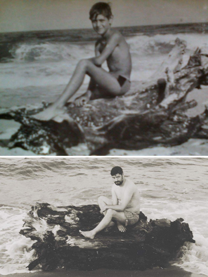 My Boyfriend Ivan. First Picture – 1992, Just 10 Years Old. Second Photo – 2016, 33 Years Old. Same Beach :)