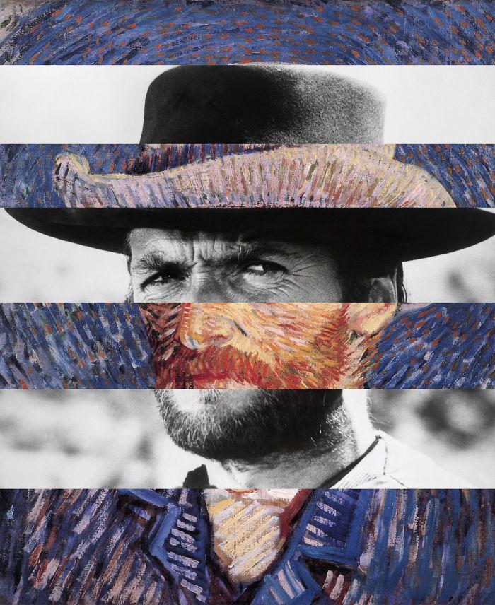 Van Gogh's Self Portrait And Clint Eastwood