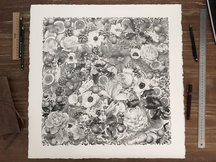 """8 Million Dots And 400 Hours Later, I Present My Artwork """"Winter"""""""