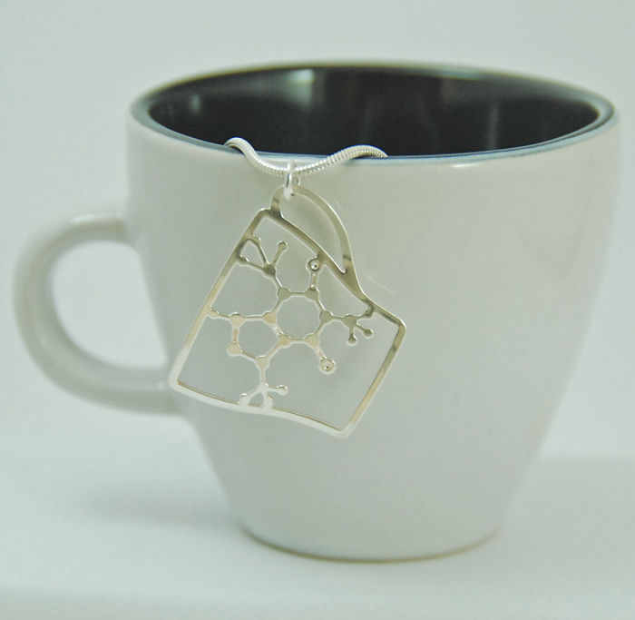 Caffeine Molecule In A Cup