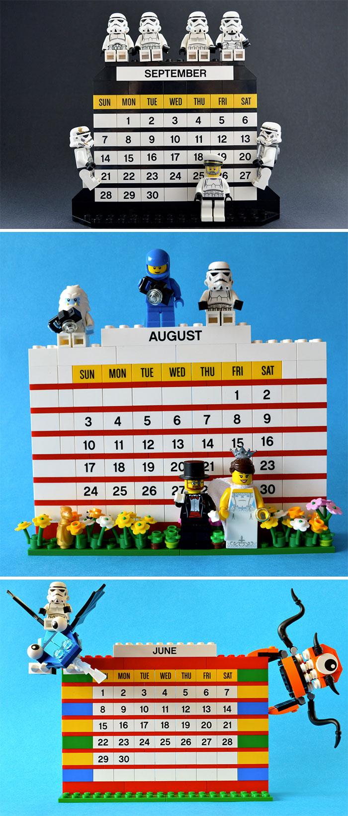 Lego Monthly Calendar