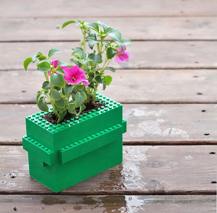 Lego Flower Pot