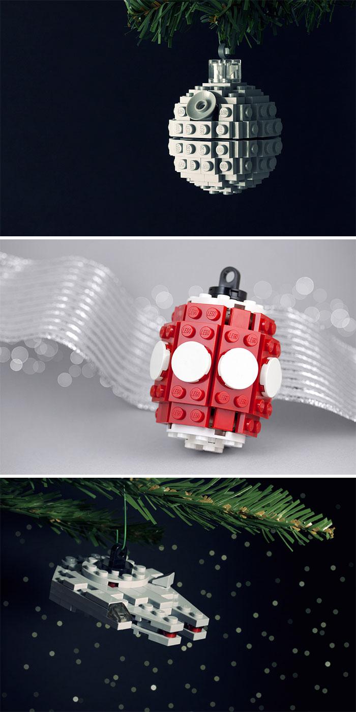 Lego Holiday Ornaments