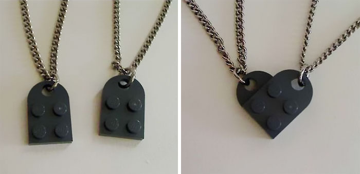 Lego Heart Necklace Set