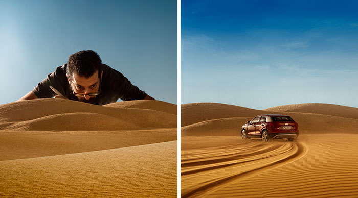 Audi Asks Photographer To Shoot Their $50,000 Car, He Uses $32 Miniature Toy Car Instead