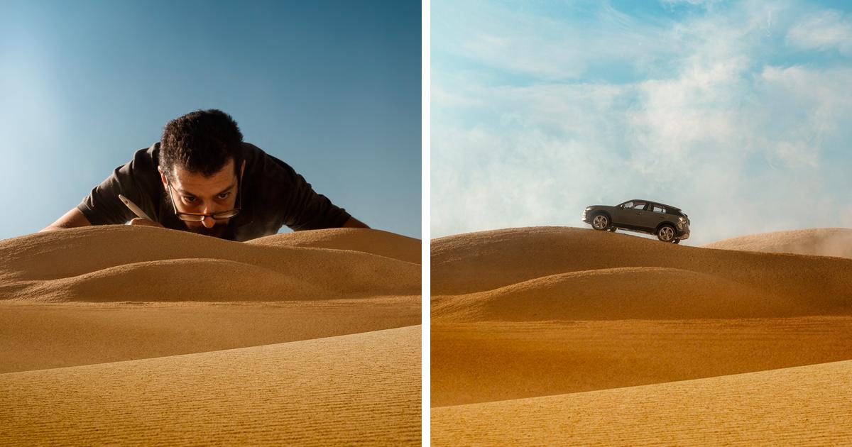 Audi Asks Photographer To Shoot Their 50 000 Car He Uses 32 Miniature Toy Car Instead Bored Panda