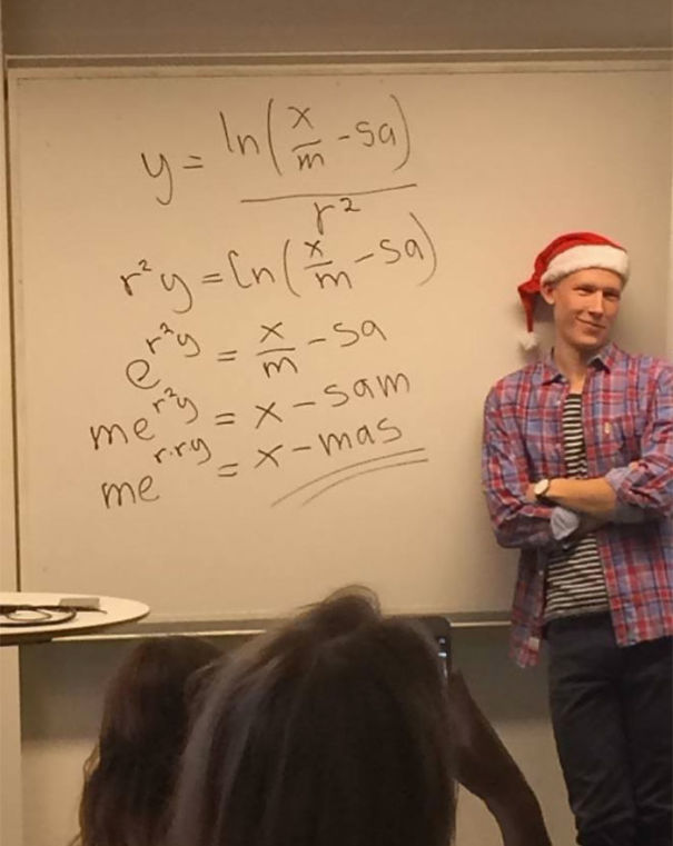 This Math Teacher Solves For 'x'-mas