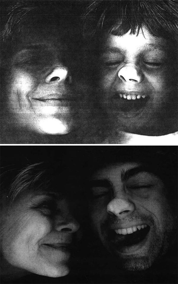 My Son And I Planted Our Faces On A Copier, Then And Now