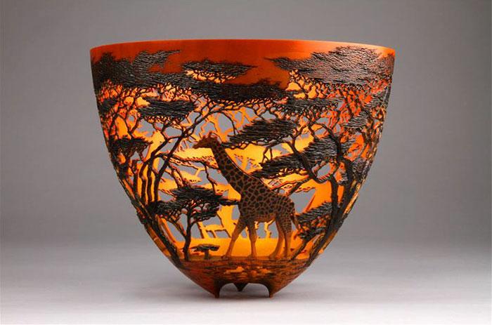Carved Wood Art