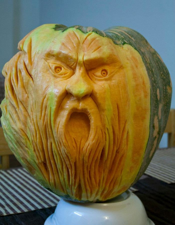 Carvings from fruit and vegetables bored panda