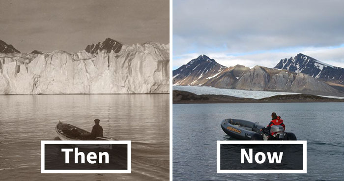 7 Shocking Photos Reveal What 100 Years Of Climate Change Has Done To Arctic Glaciers