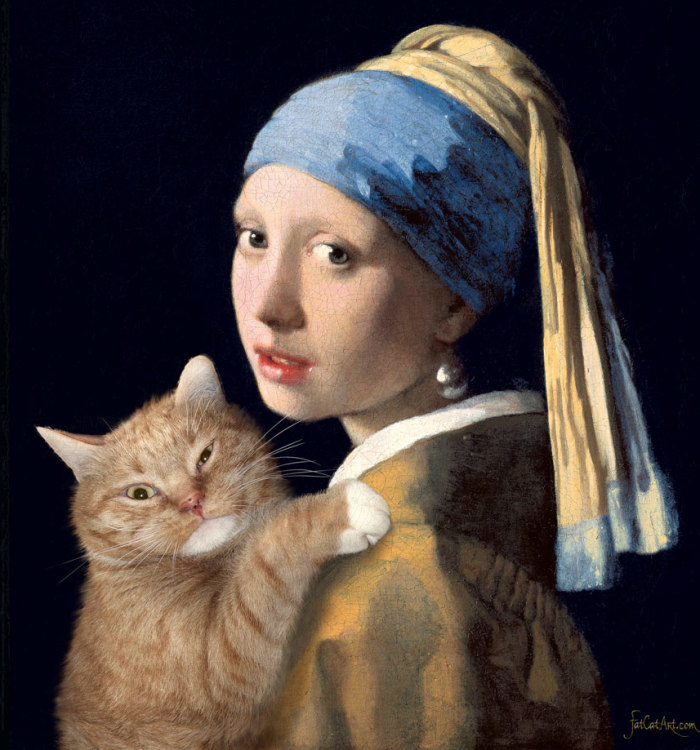 Fat Cat Art: Famous Paintings Recreated By My Ginger Cat (10+ Pics)
