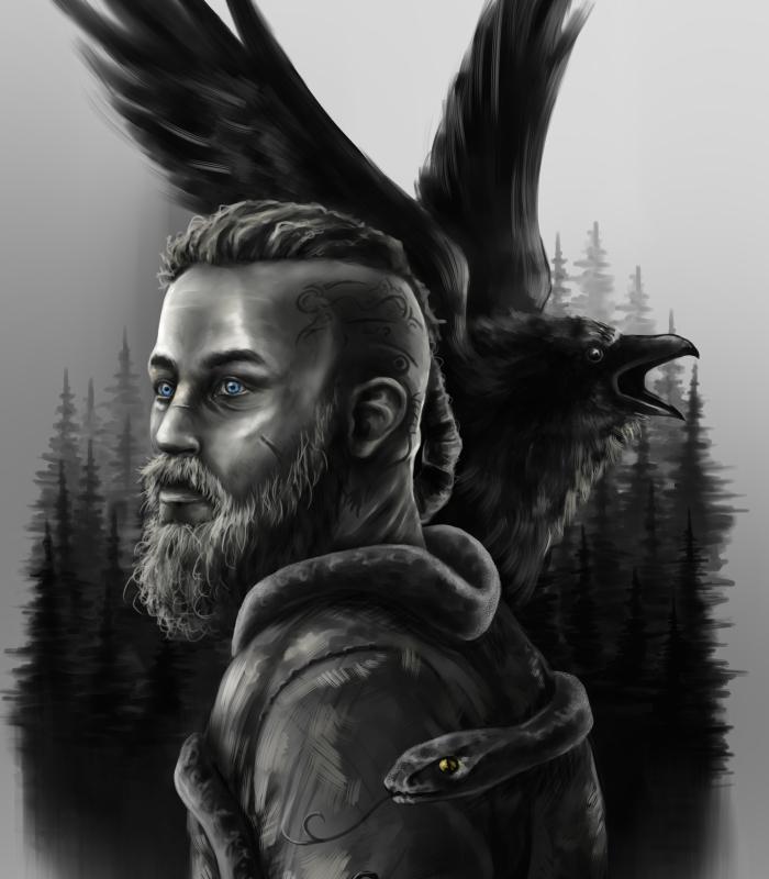 Ragnar Lothbrok Speedpaint Process