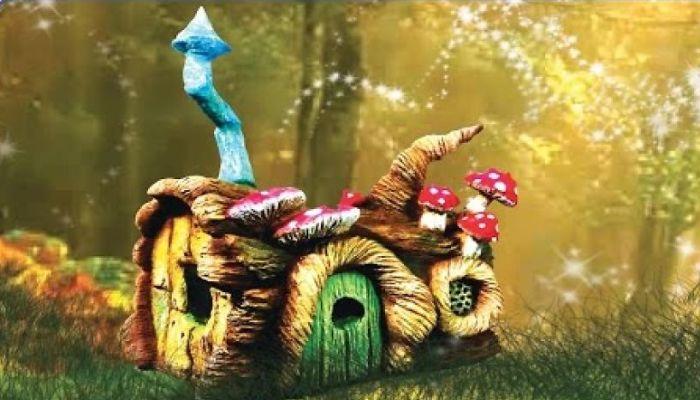 I Made A Log House Using An Old Mason Jar