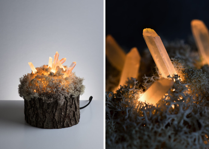 We Make Unique Lamps From Real Crystals And Moss