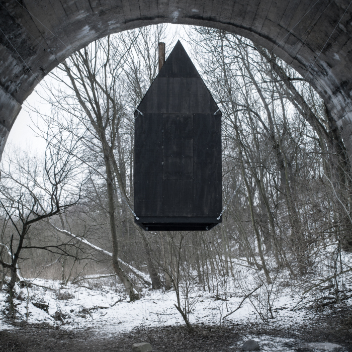 """Black Flying House"", An Art Installation That We Created"