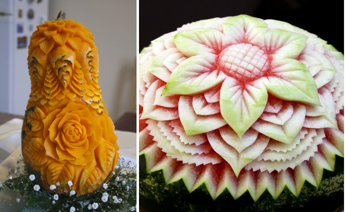 I Turn Fruits And Vegetables Into Intricate Carvings