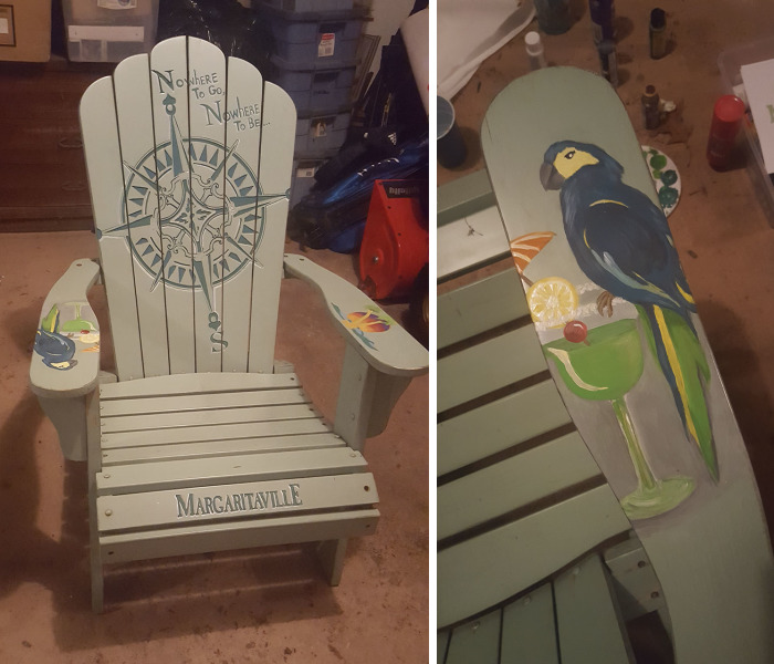 I Painted A Personalized Margaritaville Themed Adirondack Chair