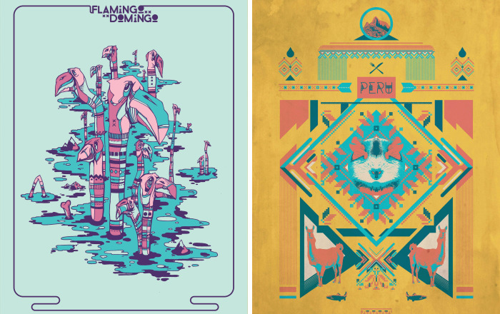 Poster Series I Did During Travels In South America