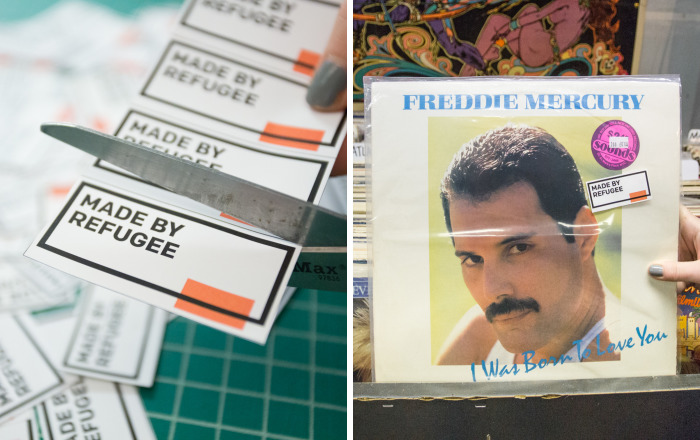 We Stuck Stickers On Everyday Products To Prove That Our Favorite Things Are Made By Refugees