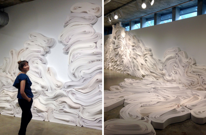 One Ton Of Recycled Paper Was Used To Recreate The Melting Glaciers In The Arctic