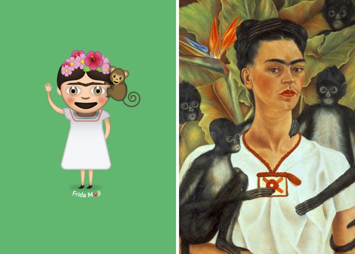 I Turned My Emoji Keyboard Into A Frida Kahlo Art Gallery
