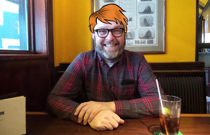I Like To Cartoon Hair On My Bald Husband's Head