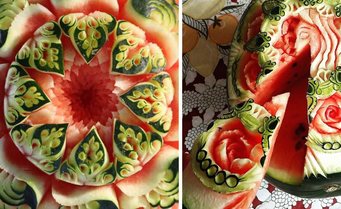 I Turn Watermelons Into Intricate Sculptures