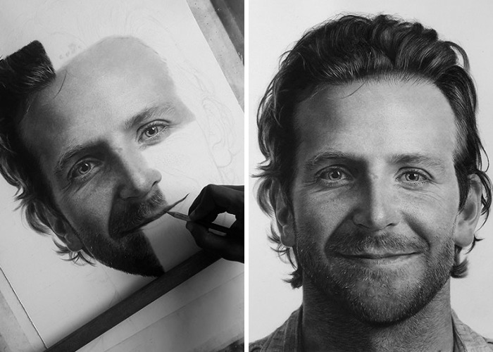 I Create Photo-Realistic Portraits Using Charcoal And Graphite