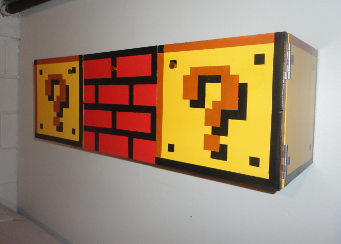 I Made This Mario-Themed Cabinet For My Friend