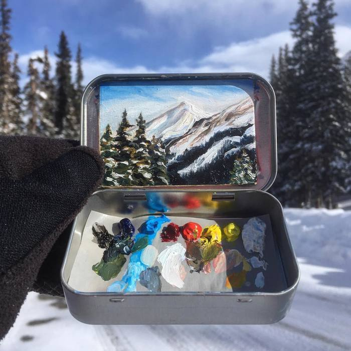 Travel Around The USA With These Tiny Landscapes In Mint Tins