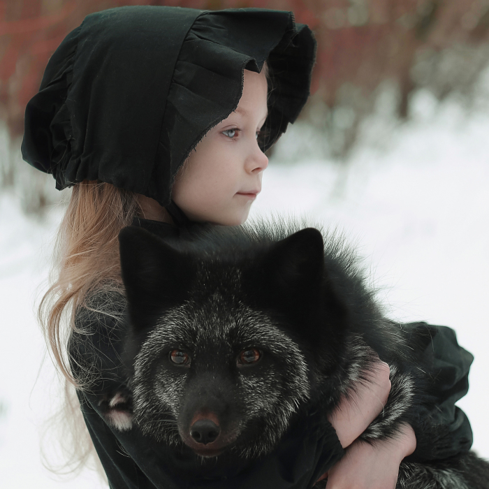 I Portrayed A Little Girl With A Black Fox