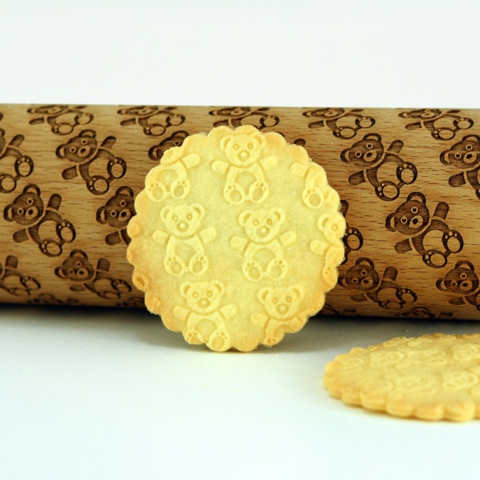 Engraved And Embossed Rolling Pins With Any Pattern