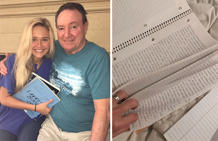 Teenager's Grandpa Spends Years Filling 3 Notebooks With Their Memories, And It Will Make You Cry