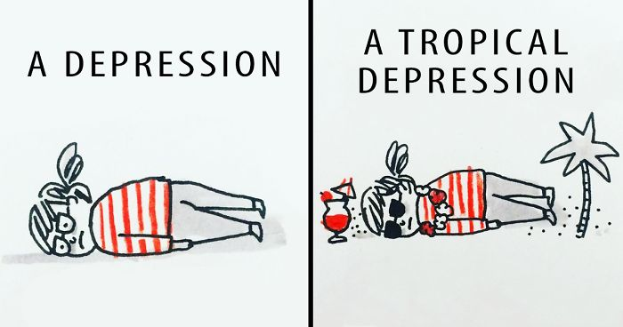 Artist Suffering From Anxiety And Depression Illustrates Her Life