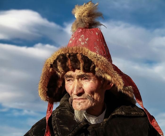 Portraits Of Eagle Hunters Of Mongolia