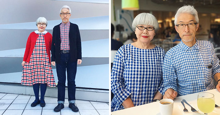 Esta pareja japonesa lleva 37 años casada y siempre se visten a juego