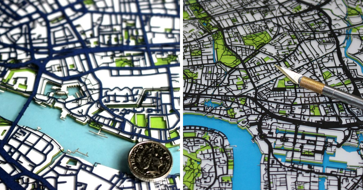 How I Went From Being A Corporate Middle Manager To Cutting Intricate Papercut Street Maps