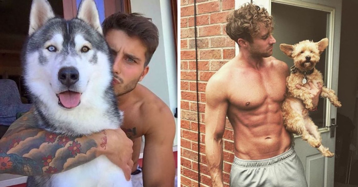 Hot Guys With Their Pets