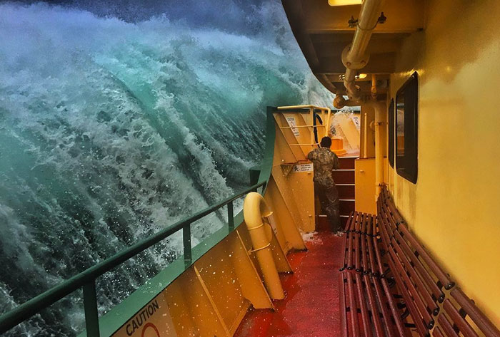 This Guy's Trip On A Ferry Went Not How He Expected, And Now His Epic Photos Are Going Viral