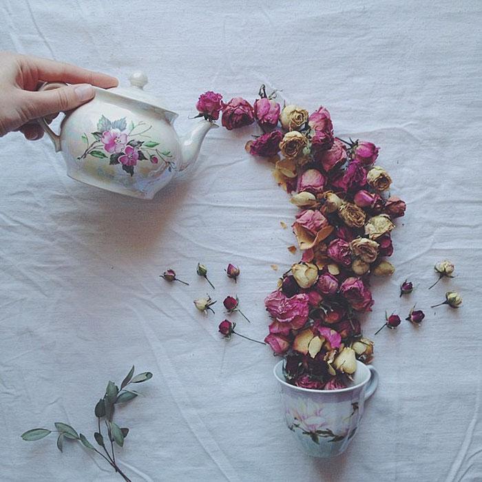Floral thé Histoire
