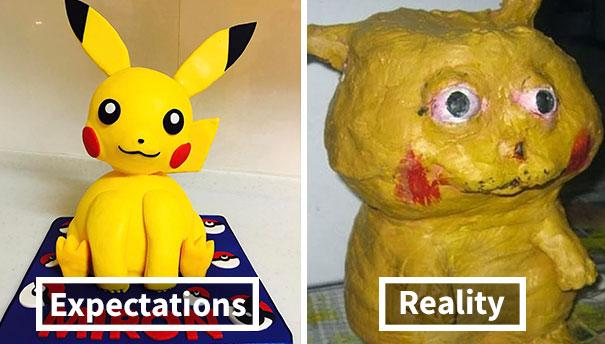 Bad Pikachu Cake