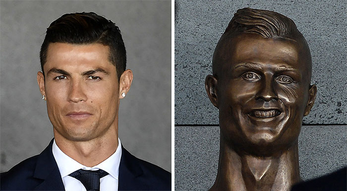 10+ Of The Funniest Reactions To Cristiano Ronaldo's New Statue (Add Yours)